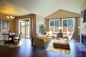 The luxury rambler Juniper plan boasts open space galore!