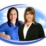 Realtors Christina Janis (r) and Lucia Arroyo (l)