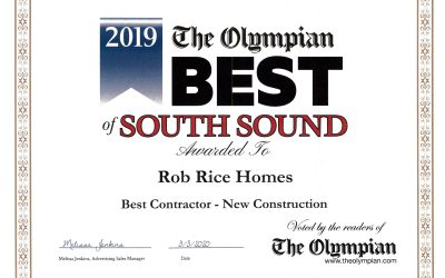 Rob Rice Homes Named Best of South Sound for Seventh Consecutive Year